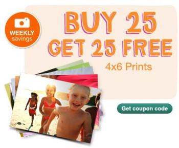 Walgreens Buy 25 Prints Get 25 Prints Coupon