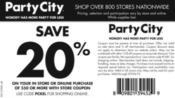 Party city coupons not expired
