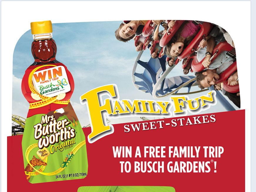 Mrs Butterworth S Family Fun Sweet Stakes Sweepstakes Sweepstakes Fanatics