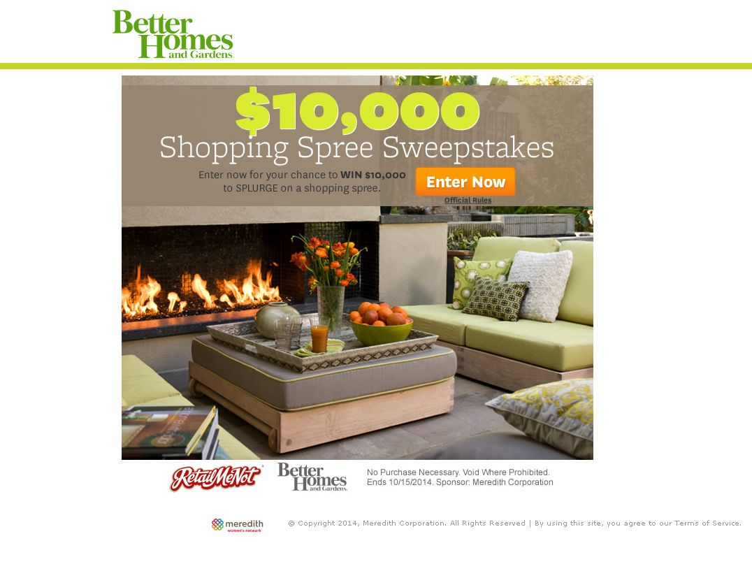 The Better Homes And Gardens 10 000 Shopping Spree