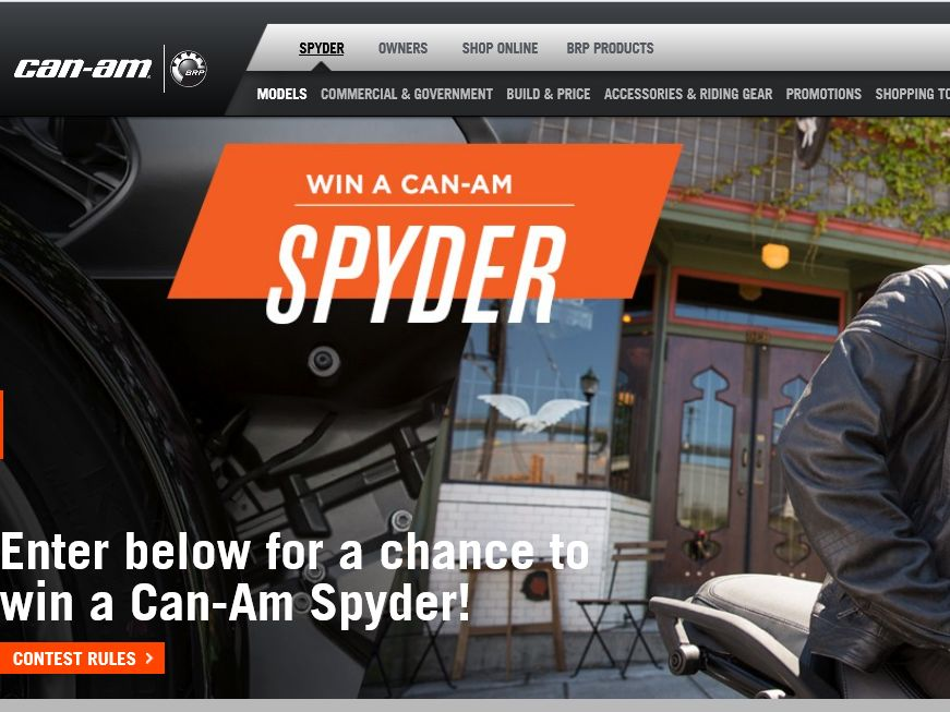 the win a can am spyder vehicle sweepstakes sweepstakes fanatics. Black Bedroom Furniture Sets. Home Design Ideas