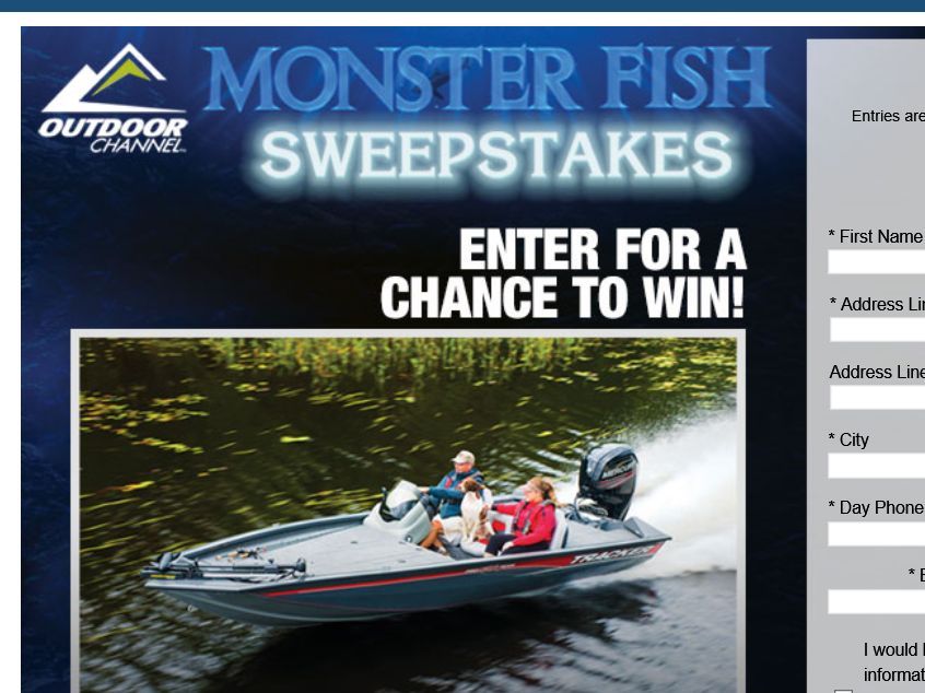 bass pro shops monster fish sweepstakes sweepstakes