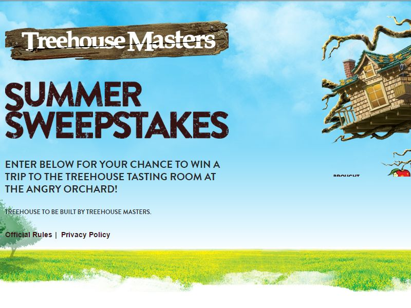 Angry Orchard Treehouse Masters Sweepstakes Sweepstakes
